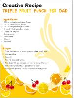 Creative recipe - Triple fruit punch for Dad