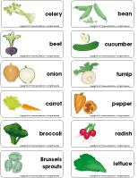 Word flashcards - Vegetables