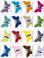 Multicoloured butterflies
