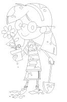 Coloring pages theme - The garden