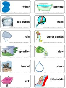Water Games-Word flashcard