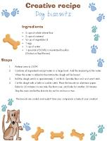 Creative recipe - Dog biscuits