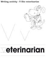 Writing activity - V like veterinarian