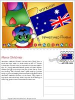 Card Christmas in Australia