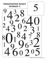 Observation sheet-Number 5