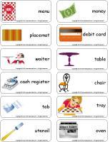 Word flashcards-Restaurant