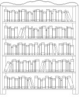 Coloring pages theme-The library