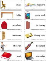 Word flashcards-The library