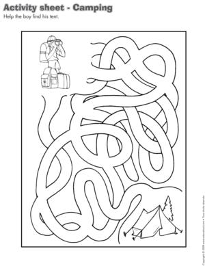 Camping theme and activities educatall for Camping coloring pages for preschoolers
