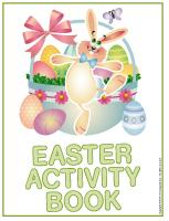 Activity sheets-Easter activity book