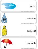 Giant word flashcards-Rain-1