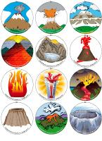 Magnetic memory game-Volcanoes