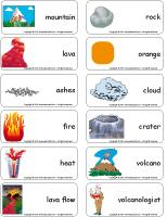 Word flashcards-Volcanoes