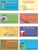 Gift certificates-Father's Day
