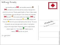 Picture clue story-Canada Day
