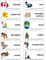 Word flashcards-Canada Day
