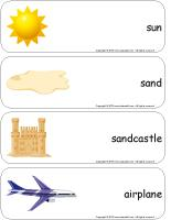 Giant word flashcards-Vacations