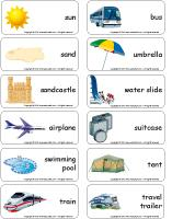 Word flashcards-Vacations