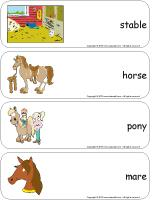 Giant word flashcards-Stables