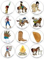 Story and memory game-Cowboys and Indians