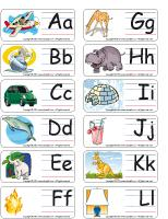 Word flashcards-Alphabet