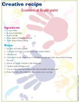 Creative recipe-Economical finger paint