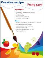 Creative recipe-Fruity paint