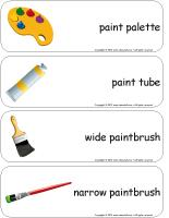 Giant word flashcards-Paint