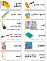 Word flashcards-Paint