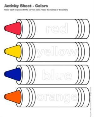 Colors - Activity sheet