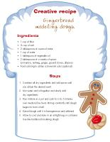Creative recipe-Gingerbread modeling dough