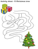 Activity sheets-O Christmas tree