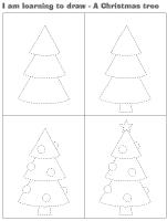 I am learning to draw-A Christmas tree