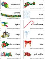 Word flashcards-O Christmas tree