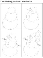 I am learning to draw-A snowman