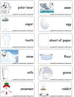 Word flashcards-White