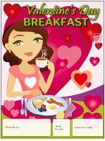 Perpetual calendar-Valentine's Day Breakfast
