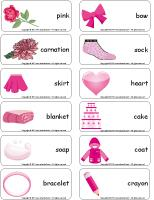 Word flashcards-Pink