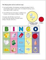 Bingo-Precious stones
