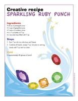 Creative recipe-Sparkling ruby punch