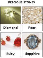 Poni-discovers and presents-Precious stones