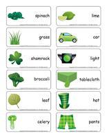 Word flashcards-Green