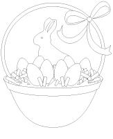 Coloring pages theme-Easter egg hunt