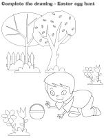 Complete the drawing-Easter egg hunt