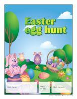 Perpetual calendar-Easter egg hunt