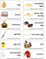 Word flashcards-Easter egg hunt