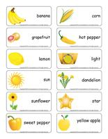 Word flashcards-Yellow