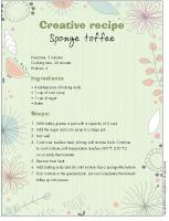 Creative recipe-Sponge toffee