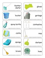 Word flashcards-Spring cleaning