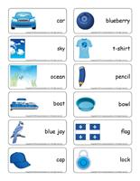 Word flashcards-Blue